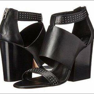 Coach New York Studded Block Heels